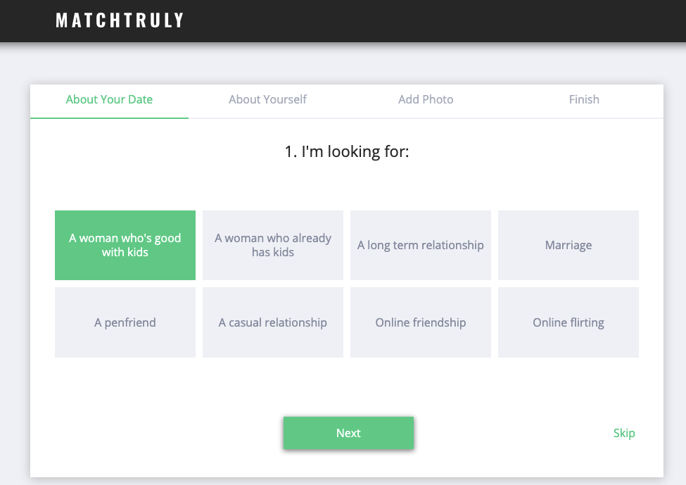 matchtruly registration